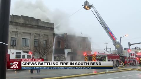 Structure fire on South Michigan Street causes traffic delays